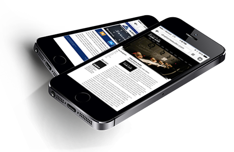 Mobile ready responsive websites on mobile phones
